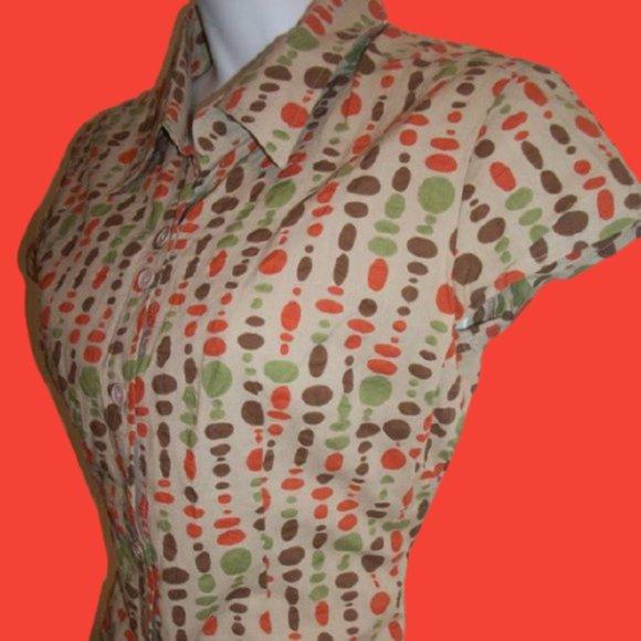 Masi Donna Printed Shirt Size Small